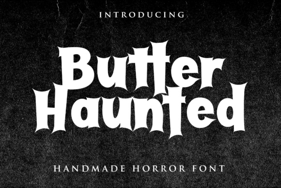 Print on Demand: Butter Haunted Display Font By Lettersiro Co.