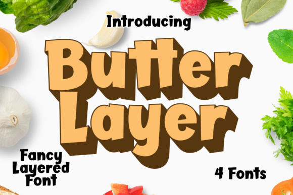 Print on Demand: Butter Layer Display Font By Lettersiro Co.