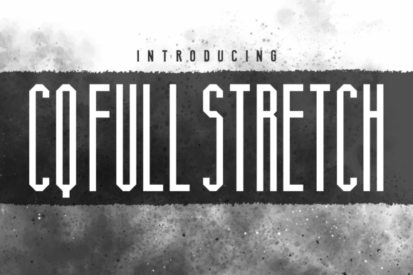Print on Demand: CQ Full Stretch Sans Serif Font By Chequered Ink