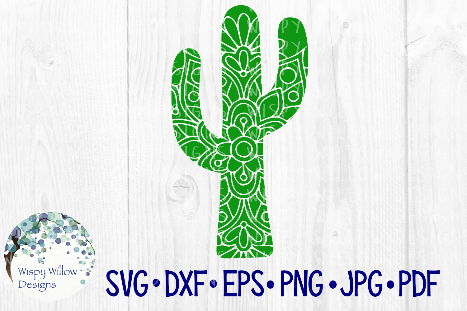 Download Free Cactus Mandala Graphic By Wispywillowdesigns Creative Fabrica for Cricut Explore, Silhouette and other cutting machines.
