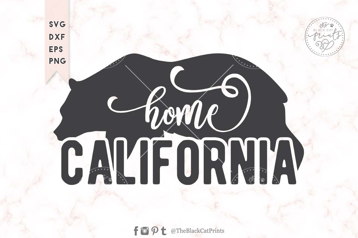 Download Free California Graphic By Theblackcatprints Creative Fabrica for Cricut Explore, Silhouette and other cutting machines.