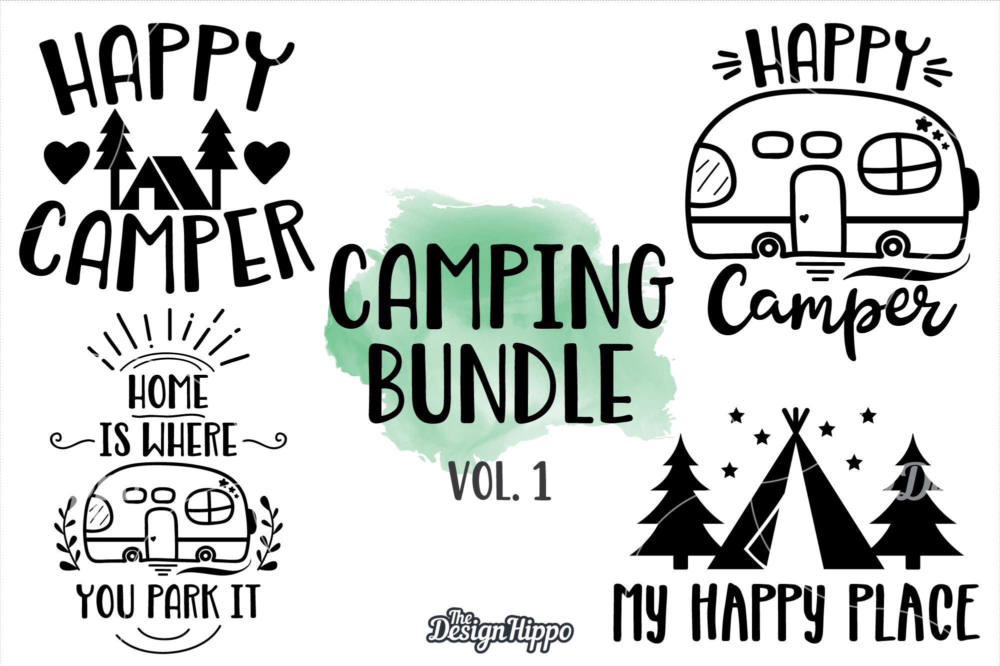 Camping Bundle Graphic By Thedesignhippo Creative Fabrica