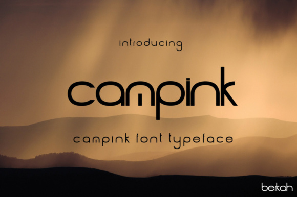 Print on Demand: Campink Sans Serif Font By jehansyah251 - Image 1