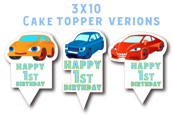 Download Free Car Cake Toppers Svg Cut File By Creative Fabrica Crafts for Cricut Explore, Silhouette and other cutting machines.