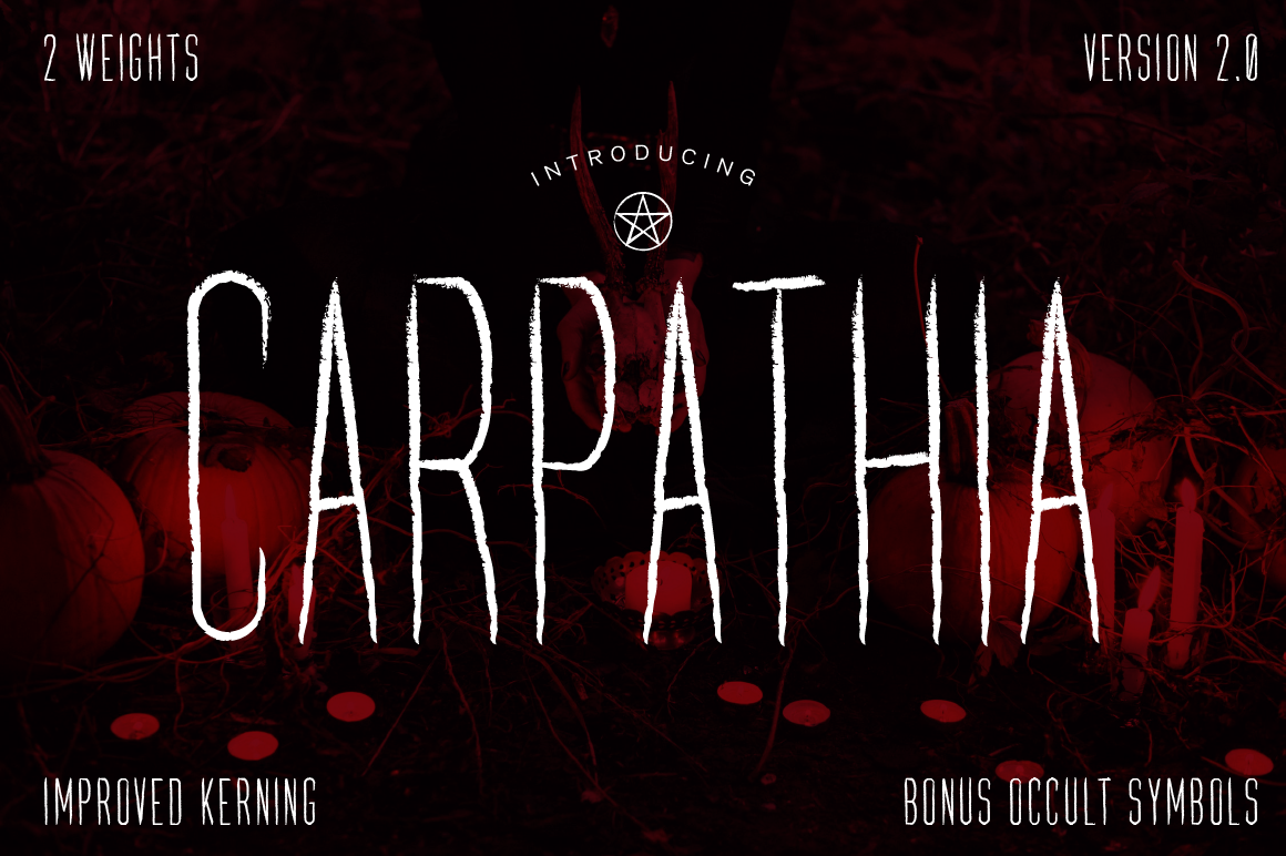 Download Free Carpathia Font By Vontypeco Creative Fabrica for Cricut Explore, Silhouette and other cutting machines.