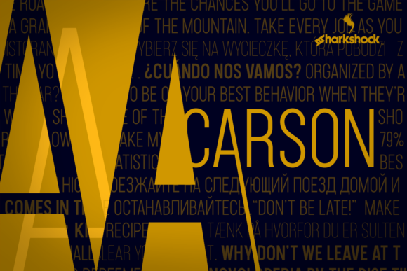 Print on Demand: Carson Sans Serif Font By Sharkshock