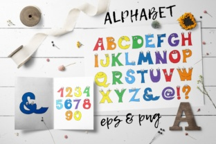 Cartoon Alphabet and Numbers Graphic Illustrations By nicjulia
