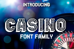 Print on Demand: Casino Display Font By vladimirnikolic