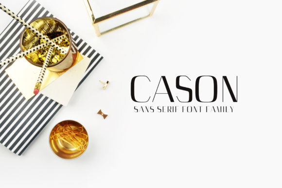 Print on Demand: Cason Family Sans Serif Font By Creative Tacos