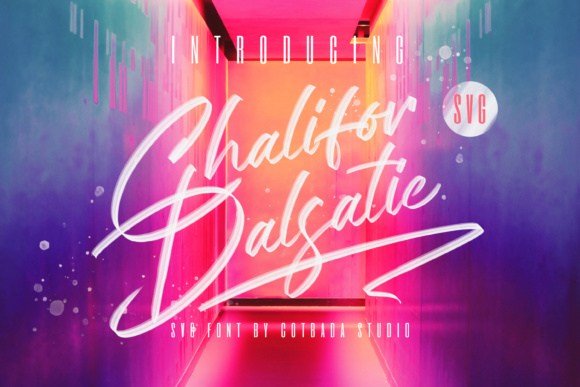 Print on Demand: Chalifor Dalsatic Color Fonts Font By Cotbada Studio