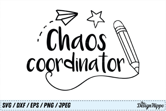 Download Free Chaos Coordinator Graphic By Thedesignhippo Creative Fabrica for Cricut Explore, Silhouette and other cutting machines.