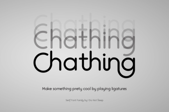 Print on Demand: Chathing Sans Serif Font By I Do Not Sleep