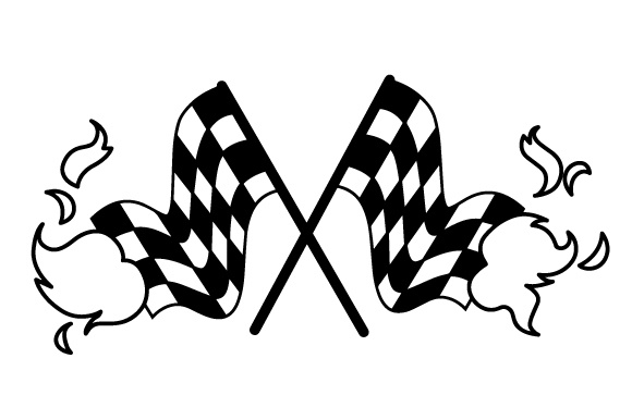 Download Free Checkered Flags On Fire Svg Cut File By Creative Fabrica Crafts for Cricut Explore, Silhouette and other cutting machines.