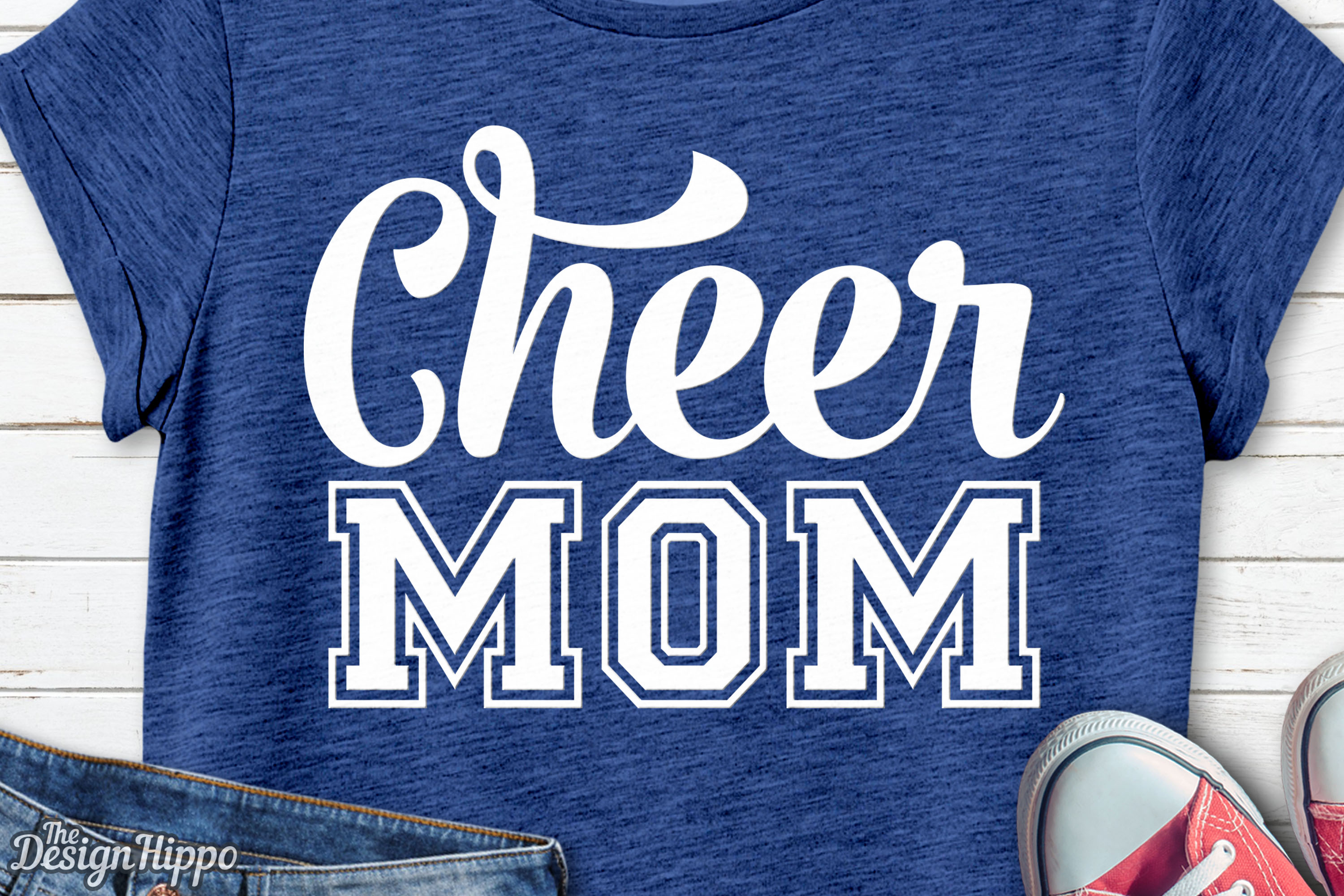 Download Free Cheer Mom Graphic By Thedesignhippo Creative Fabrica for Cricut Explore, Silhouette and other cutting machines.