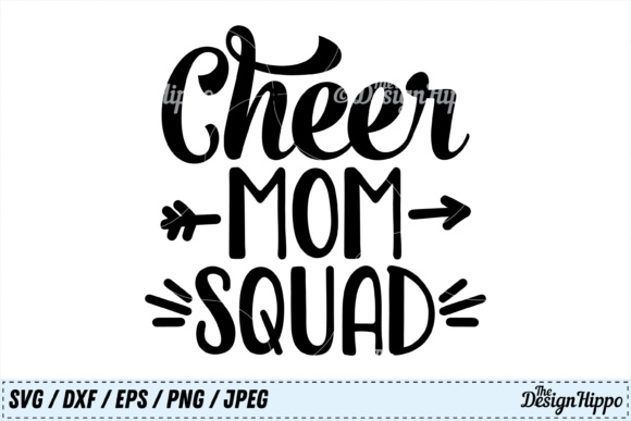 Download Free Cheer Mom Squad Svg Graphic By Thedesignhippo Creative Fabrica for Cricut Explore, Silhouette and other cutting machines.
