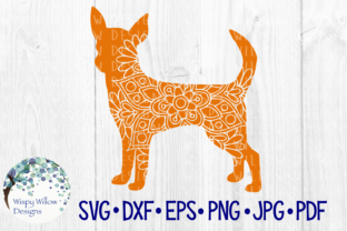Download Free Chihuahua Mandala Dog Floral Graphic By Wispywillowdesigns for Cricut Explore, Silhouette and other cutting machines.