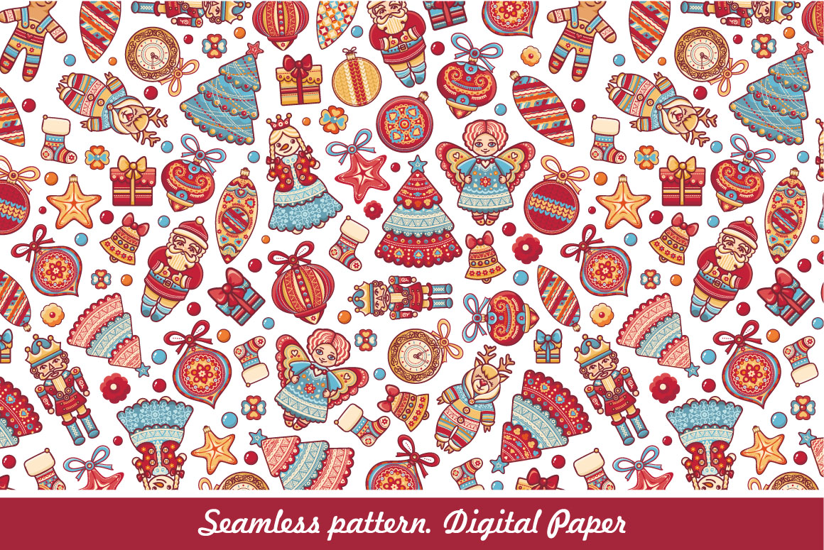 Download Free Christmas Digital Scrapbook Paper Graphic By Zoyali Creative for Cricut Explore, Silhouette and other cutting machines.