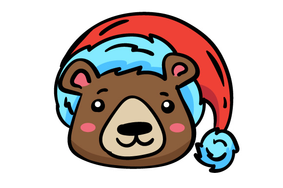 Download Free Christmas Jungle Face Bear Svg Cut File By Creative Fabrica for Cricut Explore, Silhouette and other cutting machines.