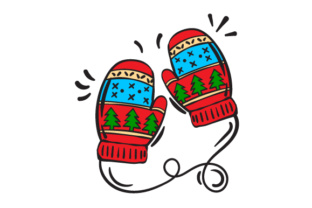 Christmas Mittens Christmas Craft Cut File By Creative Fabrica Crafts