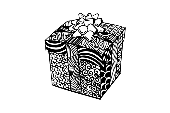 Download Free Christmas Present Zentangle Svg Cut File By Creative Fabrica for Cricut Explore, Silhouette and other cutting machines.