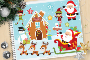 Download Free Christmas Santas Workshop Clipart Graphic By Myclipartstore for Cricut Explore, Silhouette and other cutting machines.