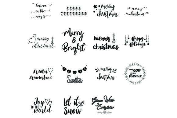 Download Free Christmas Sayings Quotes Bundle Graphic By Bluestar Creatives for Cricut Explore, Silhouette and other cutting machines.
