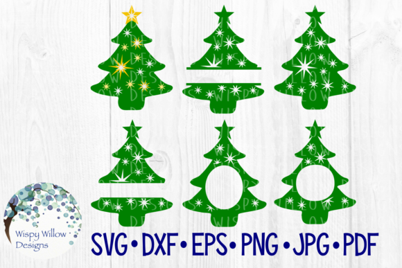 Christmas Trees Graphic Crafts By WispyWillowDesigns