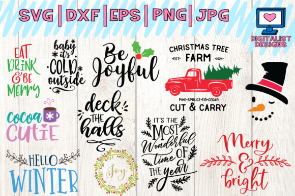 Download Free 55 Christmas Quotes Designs Bundle Graphic By SVG Cut Files