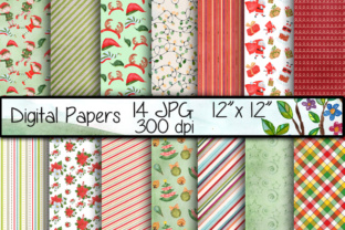 Christmas Digital Papers Graphic By vivastarkids