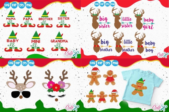 Download Free Christmas Mini Bundle 21 Items Graphic By Cute Files Creative for Cricut Explore, Silhouette and other cutting machines.