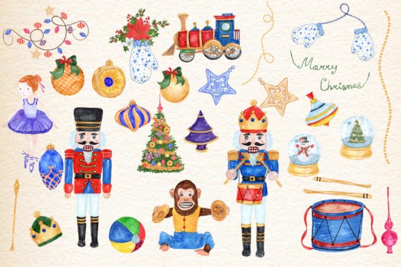 30 Watercolor Christmas Designs Graphic Illustrations By vivastarkids - Image 2