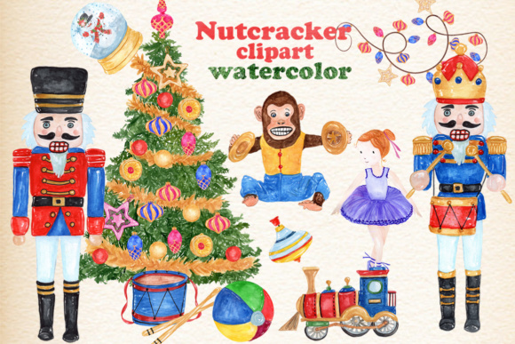 30 Watercolor Christmas Designs Graphic Illustrations By vivastarkids