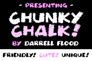 Print on Demand: Chunky Chalk Decorative Font By Dadiomouse