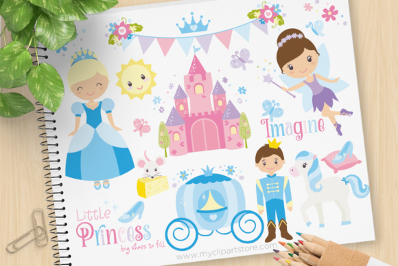 Download Free Cinderella Princess Clipart Graphic By Myclipartstore Creative for Cricut Explore, Silhouette and other cutting machines.