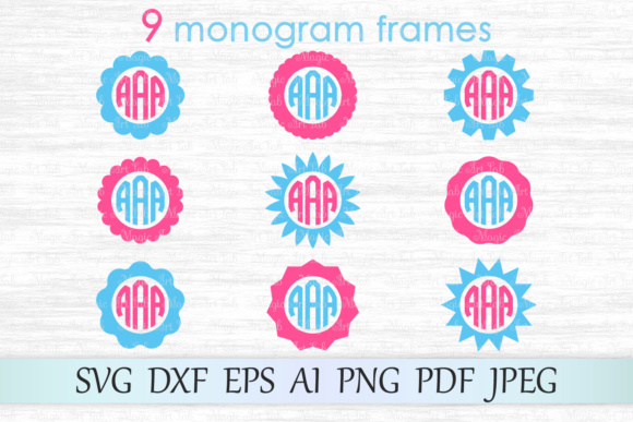 Circle Monogram Frames Svgs Graphic By Magicartlab Creative