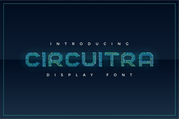 Print on Demand: Circuitra Color Fonts Font By putracetol - Image 1