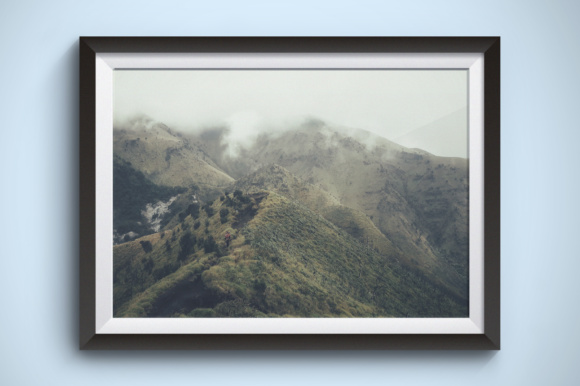 Climbing Misty Mountains Graphic Nature By Kerupukart Production