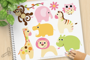 Print on Demand: Clipart Animals Baby Girl Graphic Illustrations By MyClipArtStore