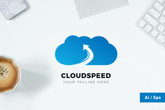 Cloudspeed Logo Graphic Print Templates By TMint - Image 1