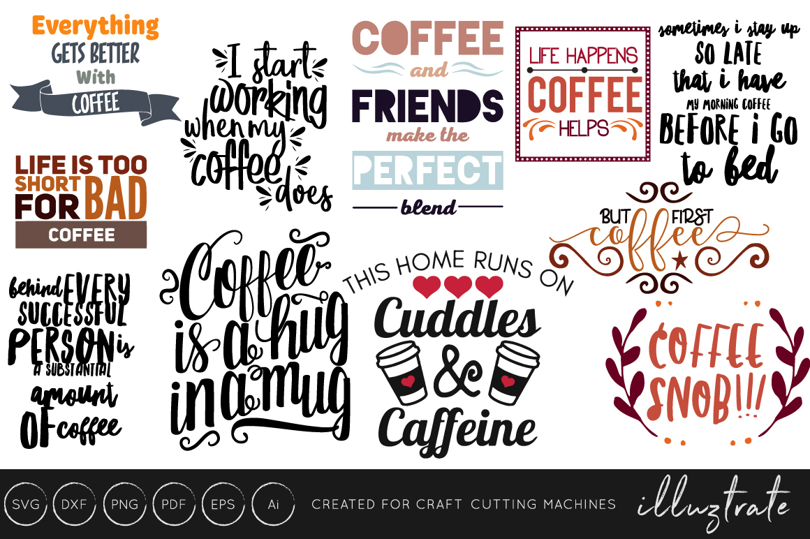 Coffee Quotes Bundle Graphic By Illuztrate Creative Fabrica