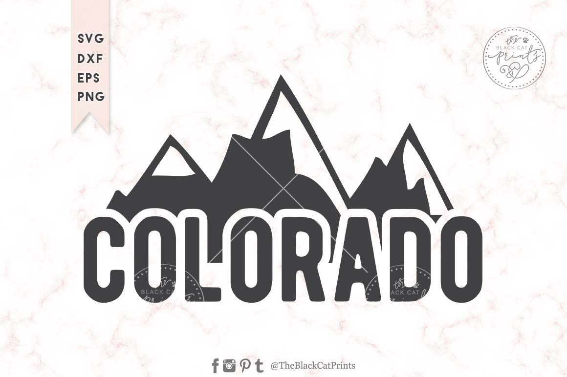 Download Free Colorado Graphic By Theblackcatprints Creative Fabrica for Cricut Explore, Silhouette and other cutting machines.