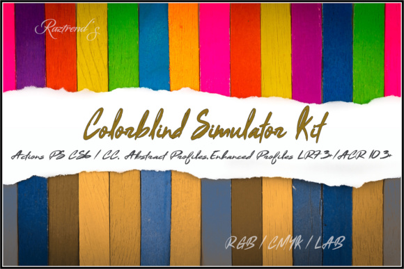Colorblind Simulator Kit Graphic By Raztrend Creative Fabrica