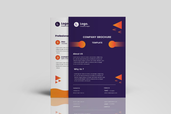 Company Brochure Template Graphic Print Templates By TMint