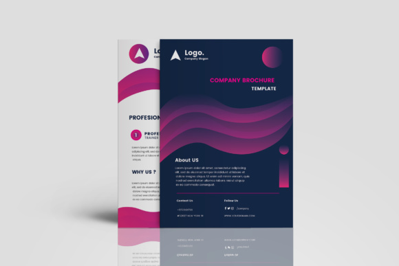 Company Brochure Graphic Print Templates By TMint