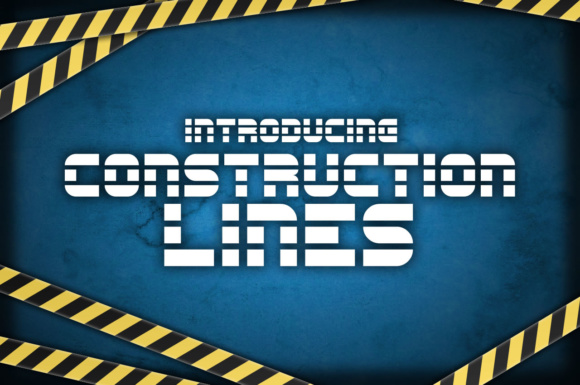 Print on Demand: Construction Lines Display Font By Chequered Ink