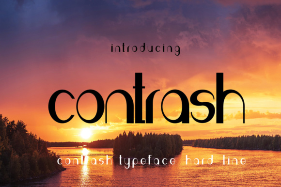 Print on Demand: Contrash Sans Serif Font By jehansyah251 - Image 1