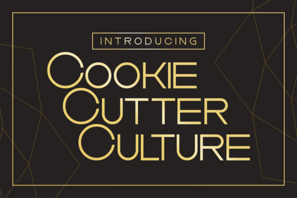 Print on Demand: Cookie Cutter Display Font By Chequered Ink - Image 1