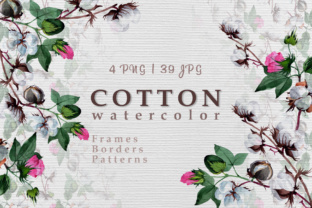Cool Cotton Watercolor Set Graphic By MyStocks