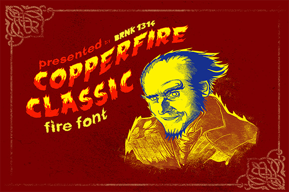 Print on Demand: Copperfire Display Font By brnk1314 - Image 4