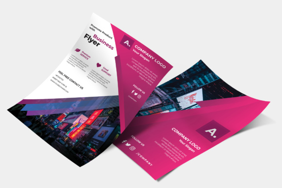 Corporate Flyer Grafik Druck-Templates von TMint